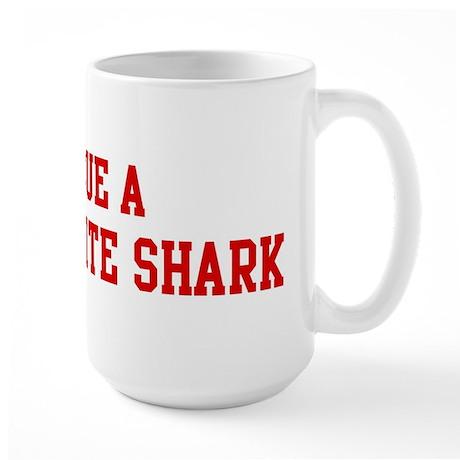 Rescue Great White Shark Large Mug