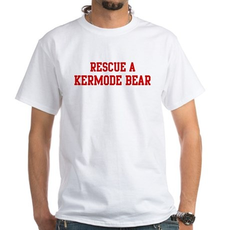 Rescue Kermode Bear White T-Shirt