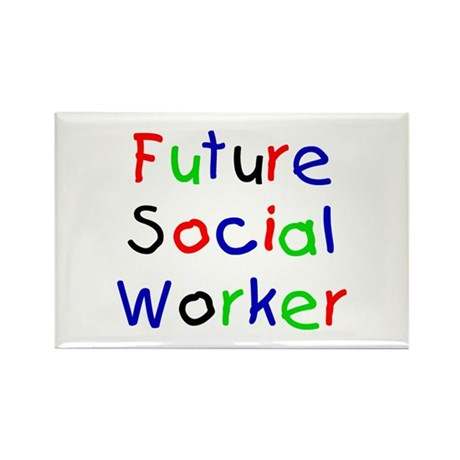 Future Social Worker Rectangle Magnet (10 pack)