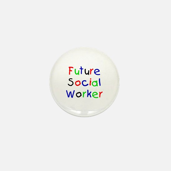 Future Social Worker Mini Button