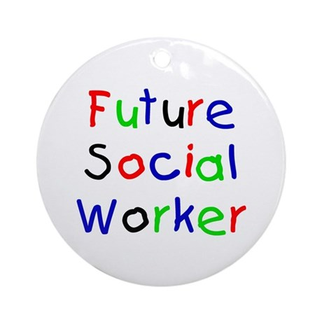 Future Social Worker Keepsake (Round)