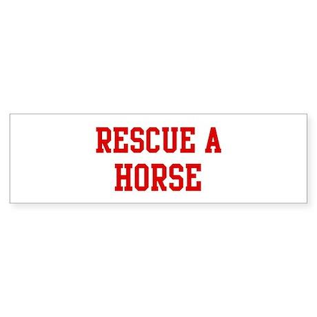 Rescue Horse Bumper Sticker
