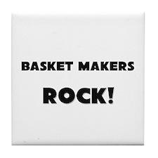 Basket Makers ROCK Tile Coaster