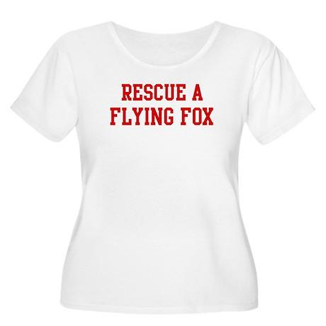 Rescue Flying Fox Women's Plus Size Scoop Neck T-S