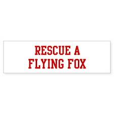 Rescue Flying Fox Bumper Bumper Sticker