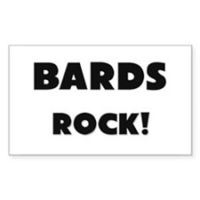 Bards ROCK Rectangle Decal