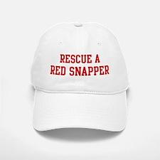 Rescue Red Snapper Baseball Baseball Cap