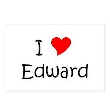 Unique I love edward Postcards (Package of 8)