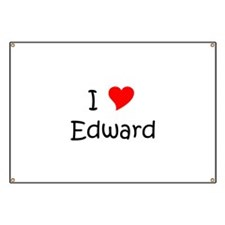 Unique I heart edward Banner