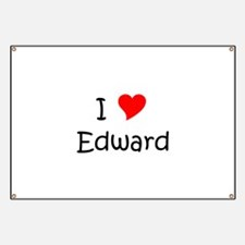 Unique I heart edward Banner