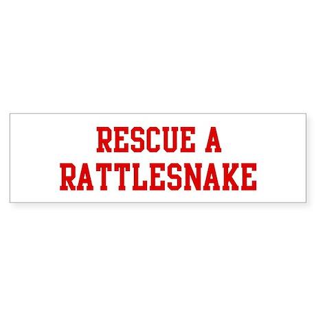 Rescue Rattlesnake Bumper Sticker