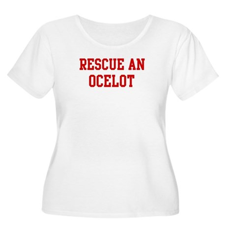 Rescue Ocelot Women's Plus Size Scoop Neck T-Shirt