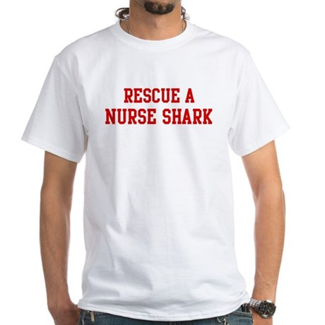 Rescue Nurse Shark White T-Shirt