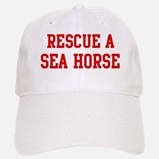 Rescue Sea Horse Baseball Baseball Cap