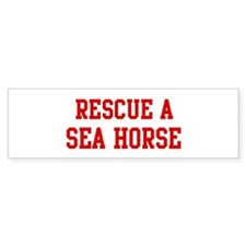 Rescue Sea Horse Bumper Sticker (10 pk)