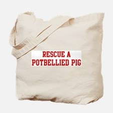 Rescue Potbellied Pig Tote Bag