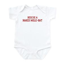 Rescue Naked Mole-Rat Infant Bodysuit
