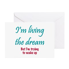 Living The Dream Greeting Cards (Pk of 10)