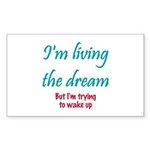 Living The Dream Rectangle Sticker 50 pk)