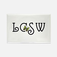 LCSW Rectangle Magnet