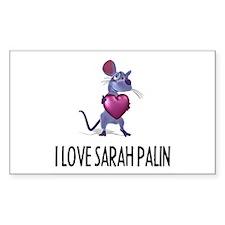 I LOVE SARAH PALIN Rectangle Decal