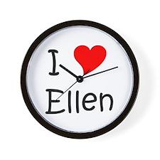 Cute I heart Wall Clock