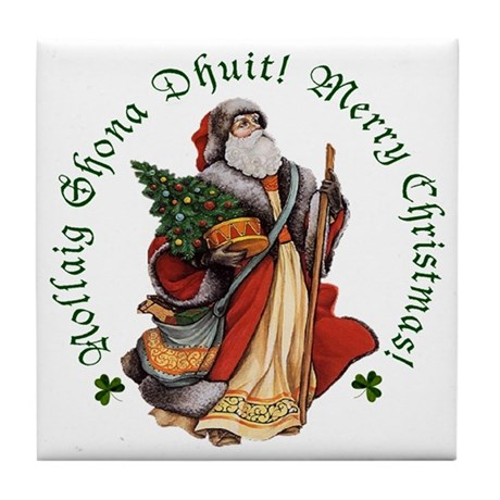 Santa (Irish & English) Ceramic Tile