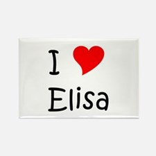 Cute Elisa Rectangle Magnet