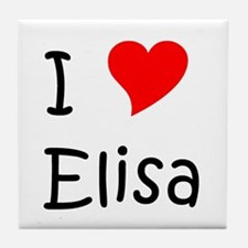 Cute Elisa Tile Coaster