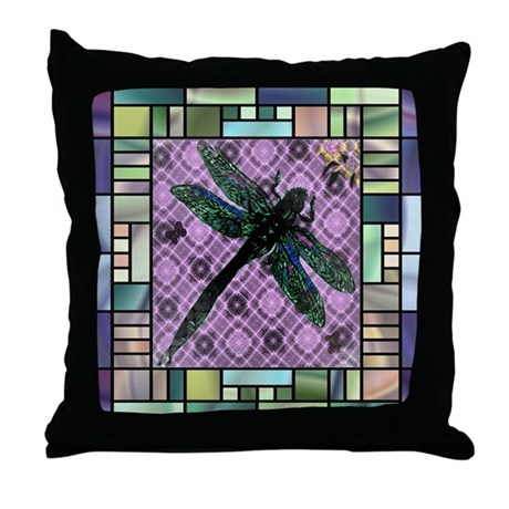 Textured Dragonfly Throw Pillow