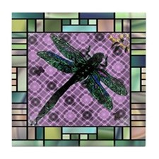 Textured Dragonfly Tile Coaster