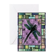 Textured Dragonfly Greeting Card
