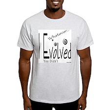 I Evolved Ash Grey T-Shirt