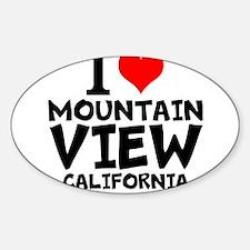 I Love Mountain View, California Decal
