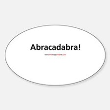 Abracadabra! Oval Decal