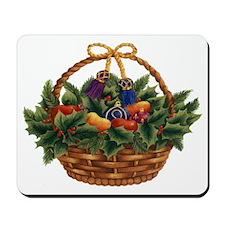 Festive Chrismas Basket Mousepad