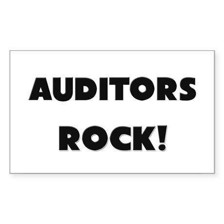 Auditors ROCK Rectangle Sticker
