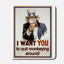 Monkey Uncle Sam Mousepad