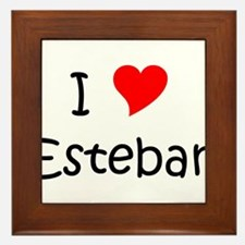 Cute Esteban Framed Tile