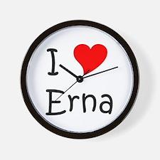 Cute I love erna Wall Clock