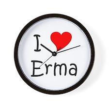 Cute I love erma Wall Clock