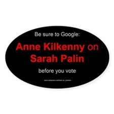 Google Kilkenny on Sarah Palin (bumper sticker)