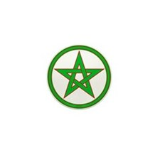 Red & Green Pentagram Mini Button