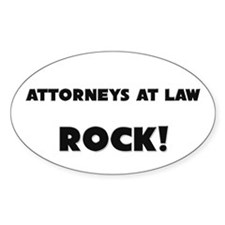 Attorneys At Law ROCK Oval Decal