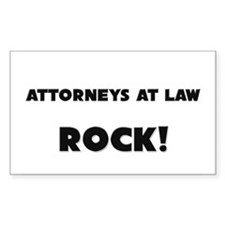 Attorneys At Law ROCK Rectangle Decal
