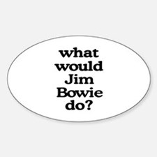 Jim Bowie Oval Decal