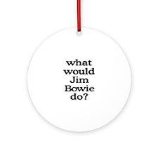 Jim Bowie Ornament (Round)