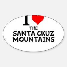 I Love The Santa Cruz Mountains Decal