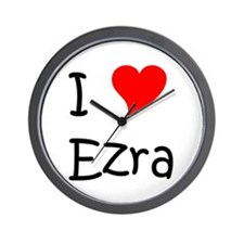 Cute I heart ezra Wall Clock