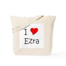 Cute I heart ezra Tote Bag